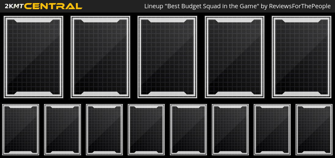 Best Budget Squad in the Game - MyTEAM Lineup - 2KMTCentral