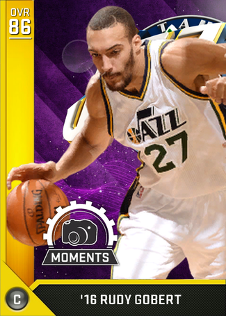 '16 Rudy Gobert gold card