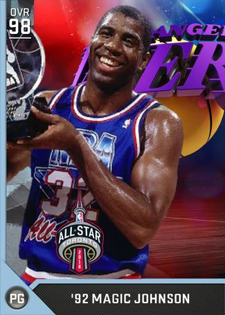 '92 Magic Johnson diamond card
