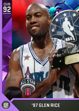 '97 Glen Rice amethyst card