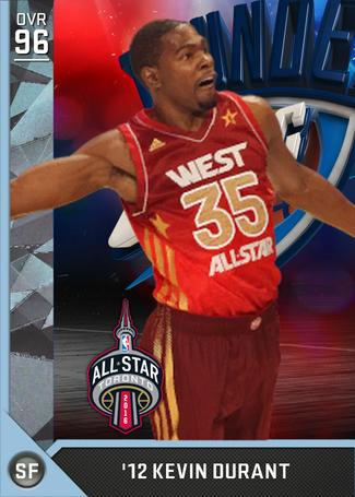 '12 Kevin Durant diamond card