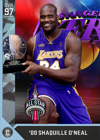'00 Shaquille O'Neal diamond card