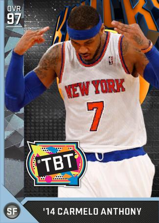 '14 Carmelo Anthony diamond card