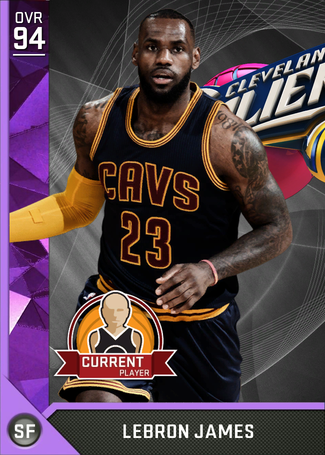 LeBron James amethyst card
