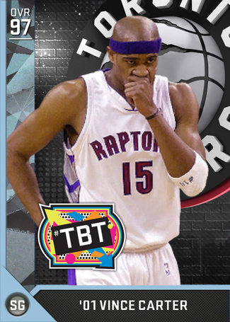 '01 Vince Carter diamond card