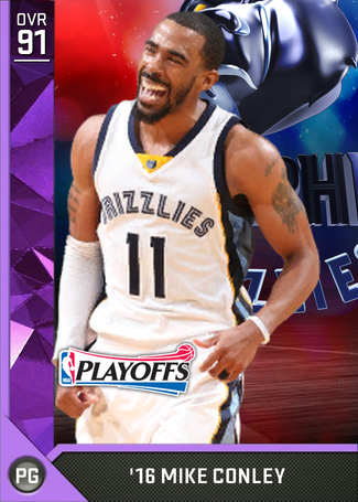 '16 Mike Conley amethyst card