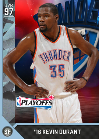 '16 Kevin Durant diamond card