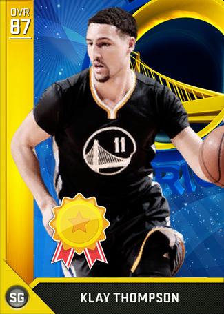 Klay Thompson gold card