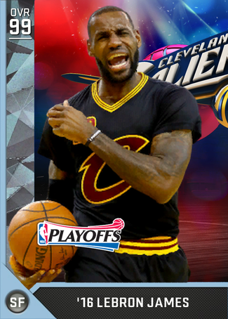 '16 LeBron James diamond card