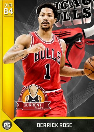 Derrick Rose gold card