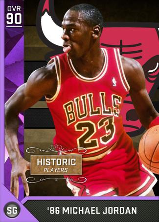'86 Michael Jordan amethyst card