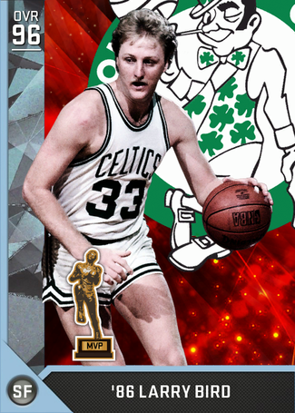 '86 Larry Bird diamond card