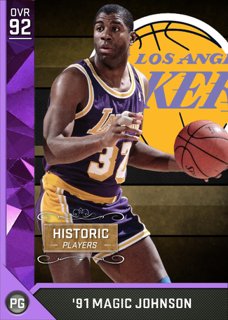 '91 Magic Johnson amethyst card