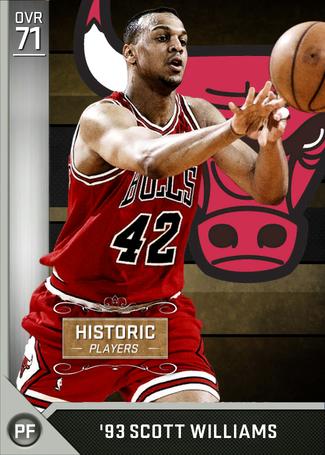93 Scott Williams (71) - NBA 2K16 MyTEAM Silver Card - 2KMTCentral