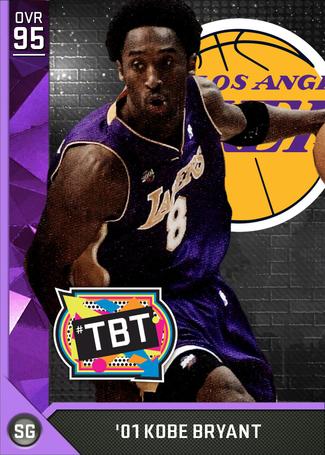 '01 Kobe Bryant amethyst card