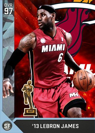 '13 LeBron James diamond card