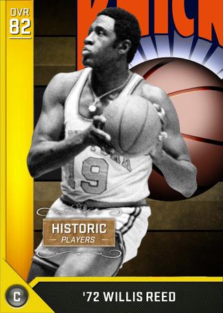 '72 Willis Reed gold card
