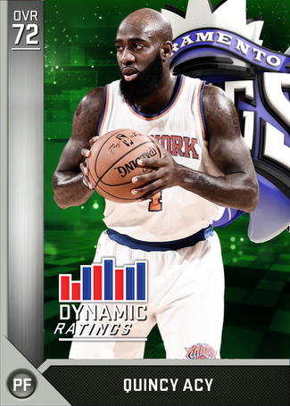 Quincy Acy silver card
