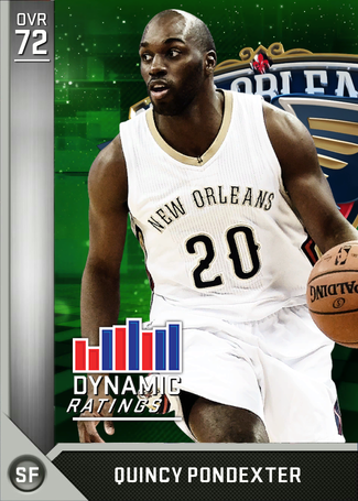 Quincy Pondexter silver card
