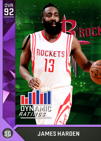 James Harden amethyst card