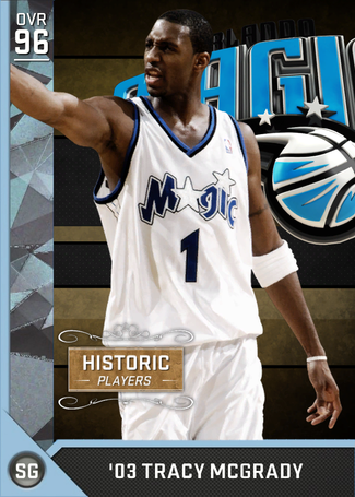 '03 Tracy McGrady diamond card