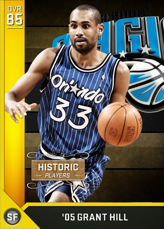 '05 Grant Hill gold card