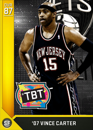 '07 Vince Carter gold card