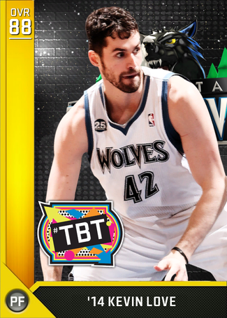 '14 Kevin Love gold card