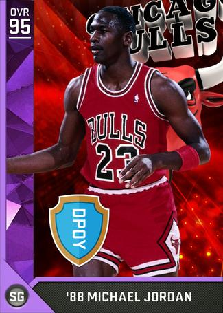 '88 Michael Jordan amethyst card