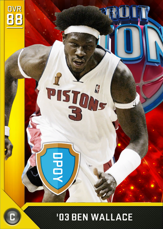 '03 Ben Wallace gold card
