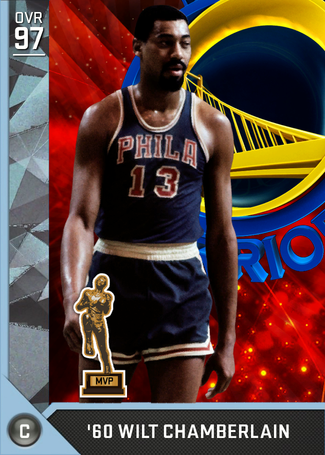 '60 Wilt Chamberlain diamond card