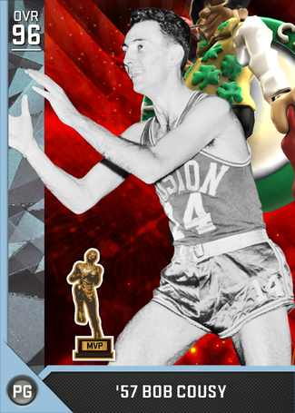 '57 Bob Cousy diamond card