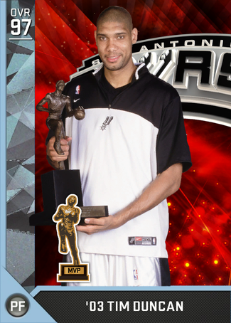 '03 Tim Duncan diamond card