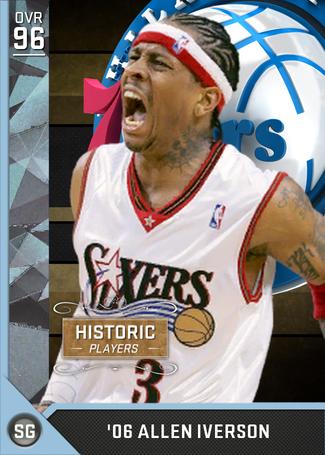 '06 Allen Iverson diamond card