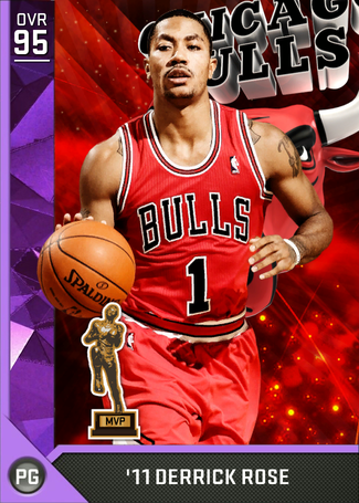 '11 Derrick Rose amethyst card