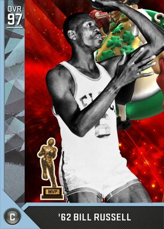 '62 Bill Russell diamond card