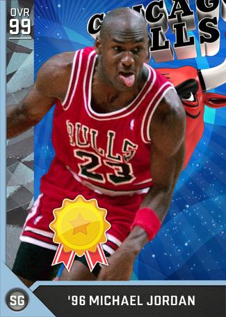 '96 Michael Jordan diamond card