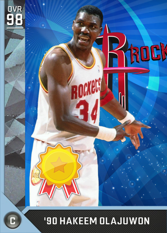 '90 Hakeem Olajuwon diamond card