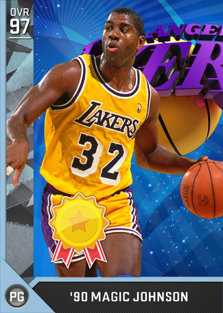 '90 Magic Johnson diamond card