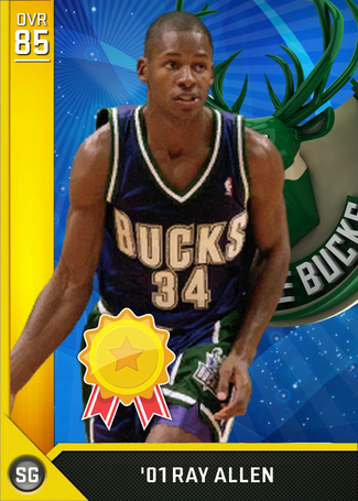 '01 Ray Allen gold card