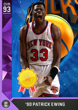 '90 Patrick Ewing amethyst card