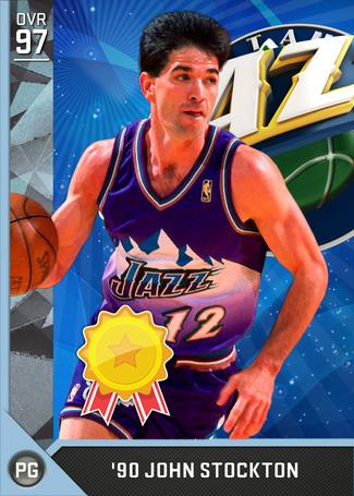 '90 John Stockton diamond card
