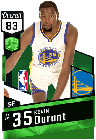 Kevin Durant emerald card