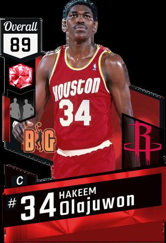 '85 Hakeem Olajuwon ruby card