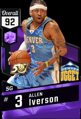 '97 Allen Iverson amethyst card