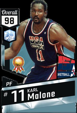 '92 Karl Malone diamond card