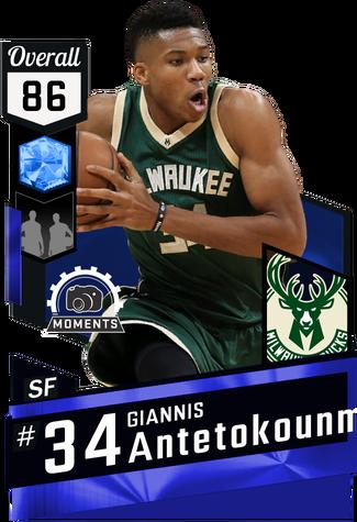 Giannis Antetokounmpo sapphire card