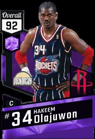 '99 Hakeem Olajuwon amethyst card