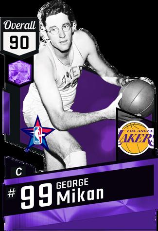 '51 George Mikan amethyst card