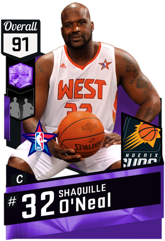 '09 Shaquille O'Neal amethyst card